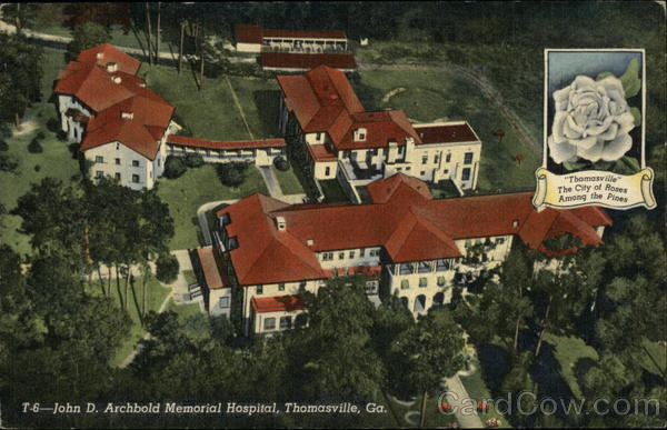 Aerial View of John D. Archbold Memorial Hospital Thomasville Georgia