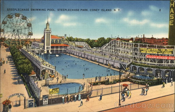 Steeplechase Swimming Pool, Steeplechase Park Coney Island New York