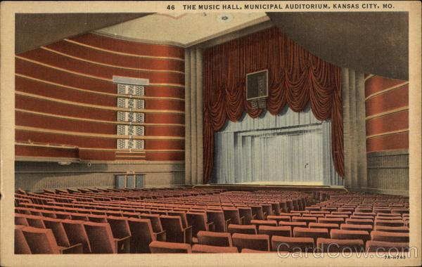 The Music Hall Municipal Auditorium Kansas City Mo Postcard