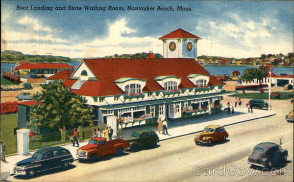 Boat Landing and State Waiting Room Nantasket Beach Massachusetts
