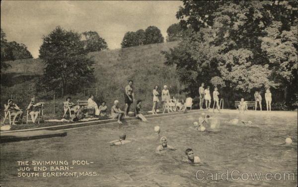 the swimming pool jug end barn south egremont mass massachusetts postcard