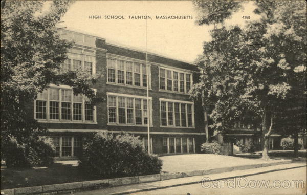 Street View of High School Taunton Massachusetts