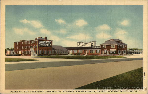 Cranberry Canners Inc. - Plant No.4 Onset Massachusetts