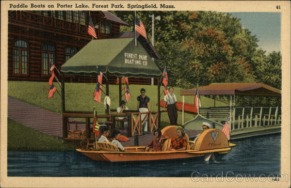 Paddle Boats on Porter Lake, Forest Park Springfield Massachusetts