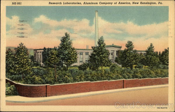 Research Laboratories, Aluminum Company of America New Kensington Pennsylvania