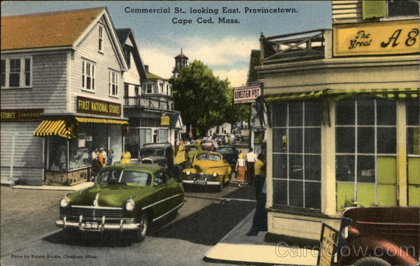 Commercial St.., Looking East, Cape Cod Provincetown Massachusetts
