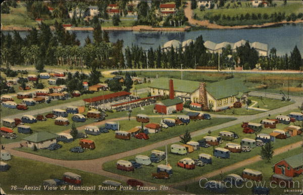 Aerial View of Municipal Trailer Park Tampa Florida