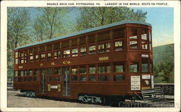 Double Deck Car - Largest in the World - Seats 110 People Pittsburgh Pennsylvania