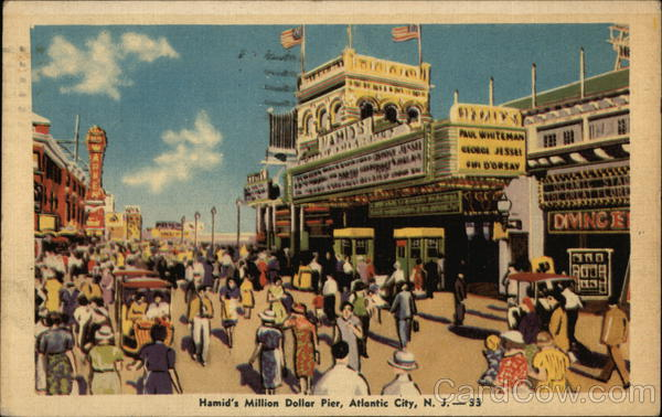 Hamid 39 s million dollar pier atlantic city nj postcard for Atlantic city fishing pier