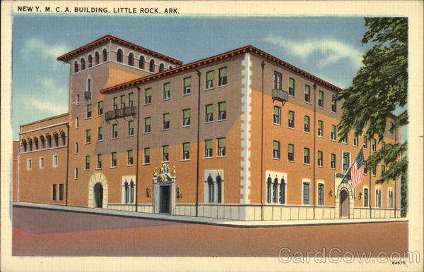 New y m c a building little rock ar postcard for Cost to build a house in little rock