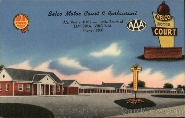 Belco Motor Court & Restaurant Emporia Virginia
