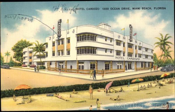 Fresh Hotel Cardozo 1300 Ocean Drive Miami Beach, FL Postcard RN72
