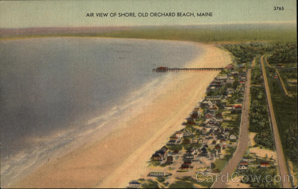 Air View of Shore Old Orchard Beach Maine