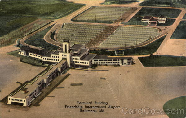 Aerial View of Terminal Building, Friendship International Airport Baltimore Maryland