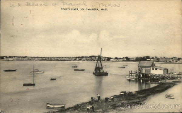 Bird's Eye View of Cole's River South Swansea Massachusetts