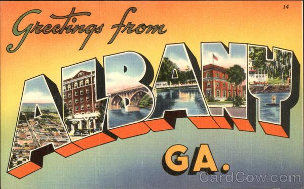 Greetings From Albany GA Postcard