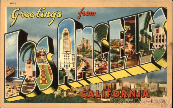 Greetings from Los Angeles California Large Letter