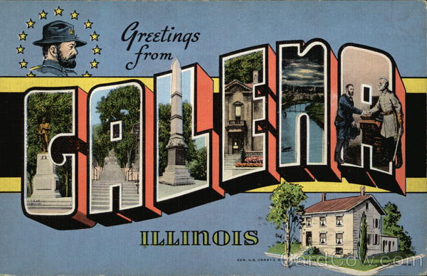Greetings From Galena Illinois Large Letter