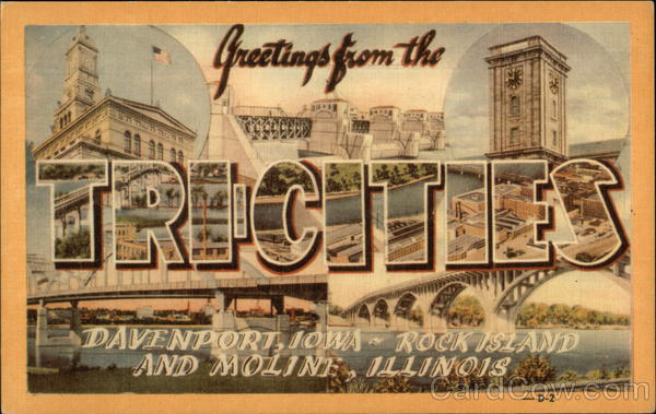 Greetings from the Tri-Cities Large Letter