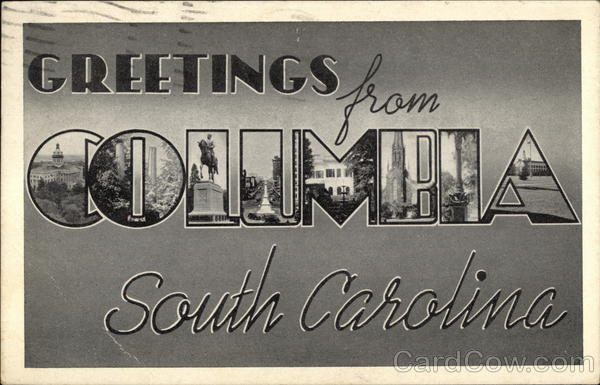 Greetings from Columbia, South Carolina Large Letter