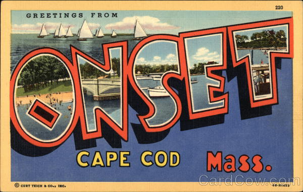 Greetings from Onset, Cape Cod, Massachusetts Large Letter