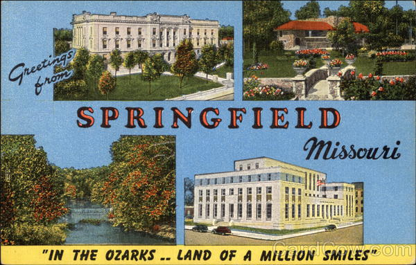 Greetings from Springfield Missouri Large Letter