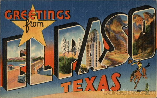 Greetings from el paso texas postcard greetings from el paso m4hsunfo
