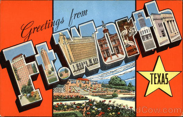 Greetings from fort worth texas postcard greetings from fort worth m4hsunfo
