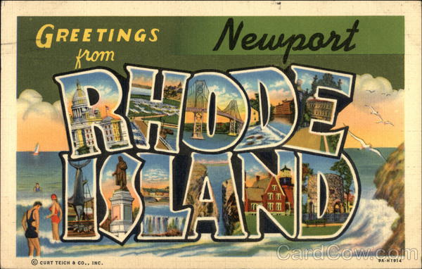 Greetings from Newport, Rhode Island Large Letter