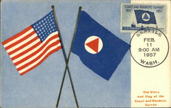Old Glory and Flag of the Coast and Geodetic Survey