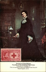 Portrait of Clara Barton, Founder of American Red Cross