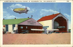 Albert Whitted Municipal Airport in The Sunshine City Postcard