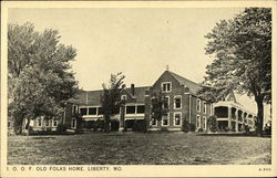 Old Folks Home and Grounds Postcard