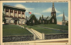 Masonic Temple and Emmanuel Episcopal Church
