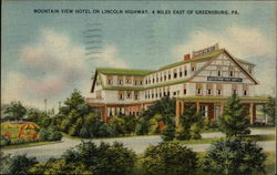 Mountain View sburgHotel on Lincoln Highway Postcard