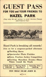 Guest Pass For You and Your Friends To Hazel Park