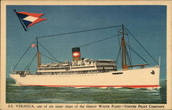 S.S. Vergua, One of Six Sister Ships of the Great White Fleet-United Fruit Company