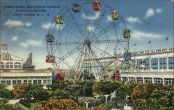 Ferris Wheel and Sunken Gardens, Steeplechase Park