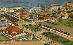 Aerial View of Salisbury Beach, Mass