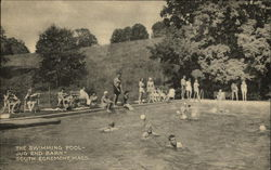 The Swimming Pool--Jug End Barn--South Egremont, Mass Postcard