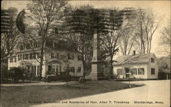 Soldiers' Monument and Residence of Hon. Allen T Treadway