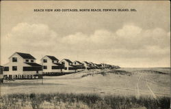 Beach View and Cottages, North Beach Postcard