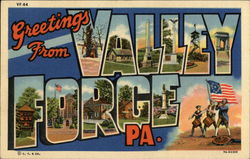Greetings from Valley Forge Postcard
