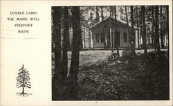 Double Cabin - The Maine Idyll Postcard