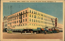 Masonic Temple, Monroe Hotel Building and Gates Theatre