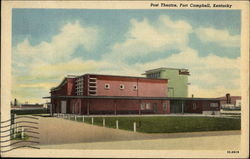 Street View of Post Theatre Postcard