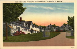The Open Gate on Routes 25 and 3A Postcard