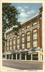 Street View of Hotel Davenport Postcard