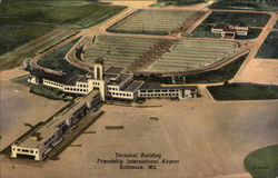 Aerial View of Terminal Building, Friendship International Airport