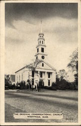 The Original Congregational Church Postcard